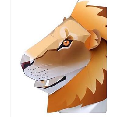 voordelige 3D-puzzels-Halloweenmaskers Dierenmasker Papierkunst HardKaart Paper Klassiek Dieren DHZ Honden Leeuw Beer Tiger Horrorthema Volwassenen Unisex