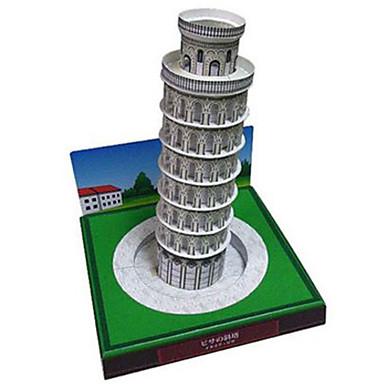 levne 3D puzzle-3D puzzle Papírové modely Modele Věž Slavné stavby Šikmá věž v Pise Udělej si sám lepenkový papír Klasické Dětské Unisex Chlapecké Dívčí Hračky Dárek