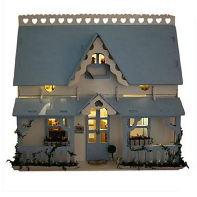 levne 3D puzzle-Modele Dřevěný model Udělej si sám Dům Plast Klasické Dětské Unisex Hračky Dárek