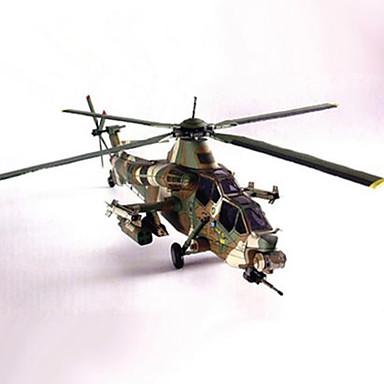 levne 3D puzzle-3D puzzle Papírové modely Helikoptéra Udělej si sám lepenkový papír Helikoptéra Dětské Unisex Hračky Dárek