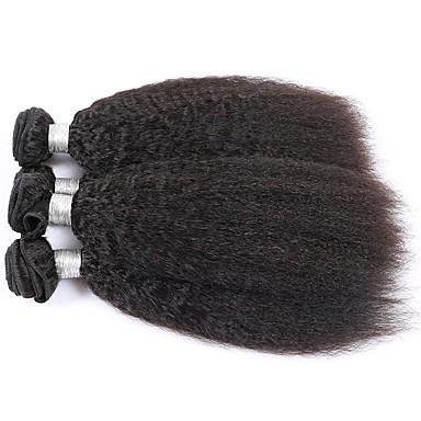 povoljno Ekstenzije za kosu-Indijska kosa Kinky Ravno Yaki Remy kosa Ljudske kose plete Isprepliće ljudske kose Proširenja ljudske kose