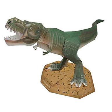 levne 3D puzzle-3D puzzle Papírové modely Tyrannosaurus Dinosaurus Udělej si sám lepenkový papír Dětské Unisex Hračky Dárek