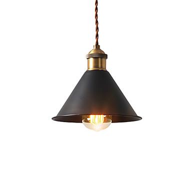 preiswerte Deckenlichter & Ventilatoren-Vintage Mini Pendelleuchten Industrie 1-Licht Metall Schatten Esszimmer Flur Küche Cafe Bars Beleuchtung