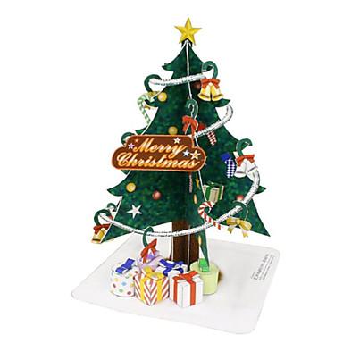 levne 3D puzzle-3D puzzle Vánoční stromky Výroba z papíru Vánoce Udělej si sám Nábytek Klasické Unisex Hračky Dárek