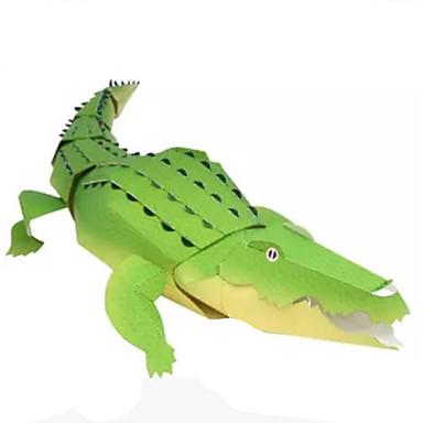 levne 3D puzzle-3D puzzle Papírové modely Modele Krokodýl Zvířata Udělej si sám Klasické Dětské Unisex Hračky Dárek
