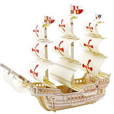 levne 3D puzzle-3D puzzle Puzzle Dřevěný model Válečná loď Loď Udělej si sám Dřevěný Přírodní dřevo Dětské Unisex Hračky Dárek