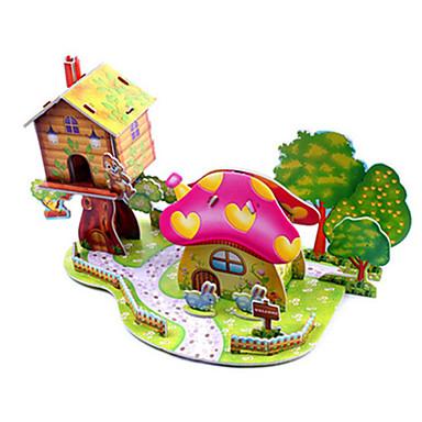 voordelige 3D-puzzels-3D-puzzels Legpuzzel Modelbouwsets Beroemd gebouw Huis DHZ Hard Kaart Paper Klassiek Anime Cartoon Kinderen Unisex Jongens Meisjes Speeltjes Geschenk
