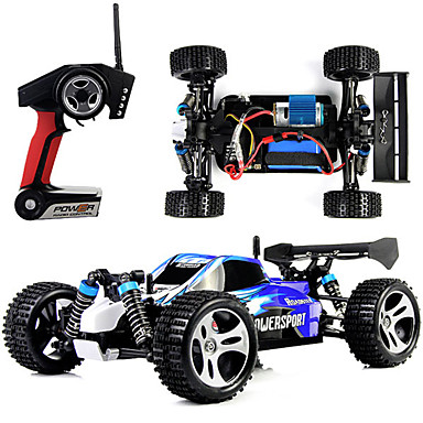 RC Car WLtoys A959 2.4G Buggy (Off-road) / Off Road Car / Drift Car 1:18 Brush Electric 45 km/h Remote Control / RC / Rechargeable / Electric