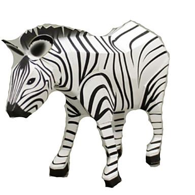 levne 3D puzzle-3D puzzle Papírové modely Modele Kůň Zebra Zvířata Udělej si sám Simulace lepenkový papír Klasické Dětské Unisex Hračky Dárek