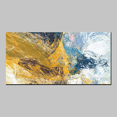 cheap Wall Art-Oil Painting Hand Painted - Abstract Abstract Modern Canvas