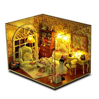 levne 3D puzzle-CUTE ROOM 3D puzzle Modele Dřevěný model Udělej si sám Dům Plast Dřevěný Dětské Unisex Dívčí Hračky Dárek