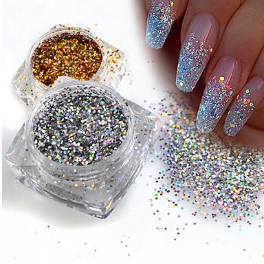 levne Nové přílety pro nehty-1ks Flitry / Glitter Powder Elegantní & luxusní / Zářivé / Glitter na nehty Design nehtů