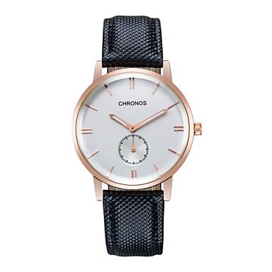 levne Dámské-Pánské Módní hodinky japonština Ecology-Drive Pravá kůže Hnědá 30 m Analogové dámy Přívěšky - Hnědá Černá / Bílá Bílá / Béžová Jeden rok Životnost baterie