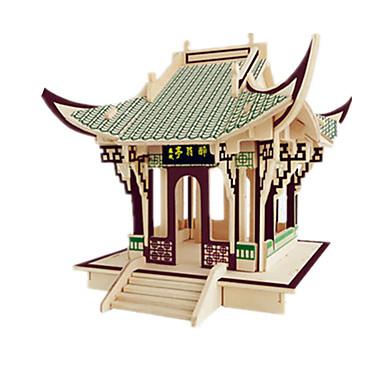 levne 3D puzzle-3D puzzle Modele Dřevěný model Slavné stavby Nábytek Dům Udělej si sám Dřevěný Klasické Dětské Unisex Chlapecké Dívčí Hračky Dárek