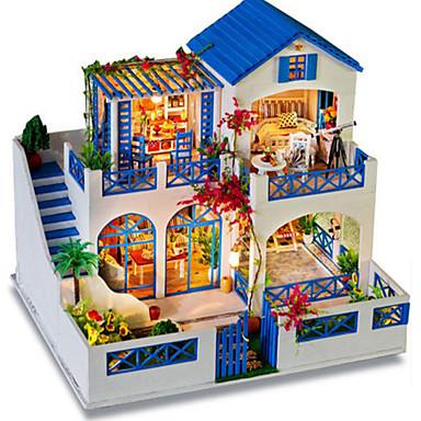 voordelige 3D-puzzels-3D-puzzels Modelbouwsets Houten modellen DHZ Huis Puinen Natuurlijk Hout Klassiek Volwassenen Unisex Speeltjes Geschenk