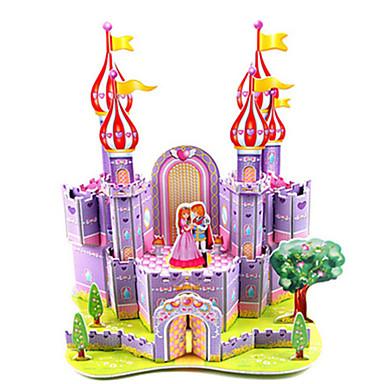 levne 3D puzzle-3D puzzle Puzzle Modele Letadlo Hrad Slavné stavby Udělej si sám lepenkový papír Klasické Anime Animák Dětské Unisex Hračky Dárek