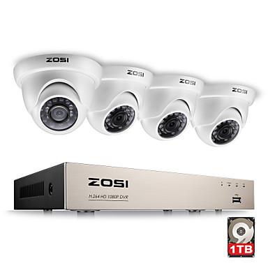 AHD CCTV DVR 1TB HDD w// 4x Outdoor 1080p 2.0MP Cameras Zosi 8Ch 1080N TVI