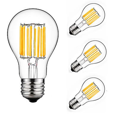 preiswerte LED Glühbirnen-4pcs 10 W 900 lm E26 / E27 LED Glühlampen A60(A19) 10 LED-Perlen COB Dekorativ Warmes Weiß / Kühles Weiß 220-240 V / 4 Stück / RoHs