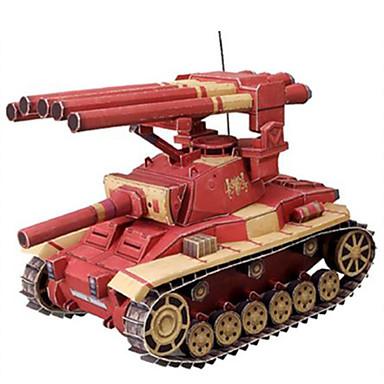 levne 3D puzzle-Autíčka 3D puzzle Papírové modely Tank Vozík lepenkový papír Dětské Unisex Chlapecké Hračky Dárek