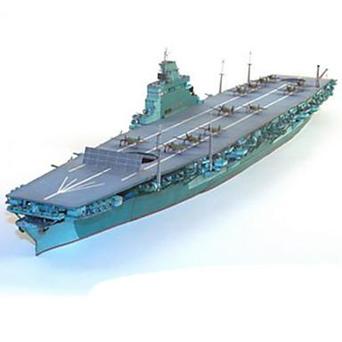 levne 3D puzzle-3D puzzle Papírové modely Válečná loď Letadlo Udělej si sám lepenkový papír Letadlo Dětské Unisex Hračky Dárek