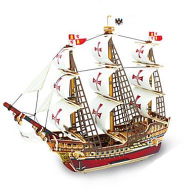levne 3D puzzle-Robotime 3D puzzle Puzzle Modele Válečná loď Loď Udělej si sám Dřevěný Klasické Dětské Dospělé Unisex Chlapecké Dívčí Hračky Dárek / Dřevěný model