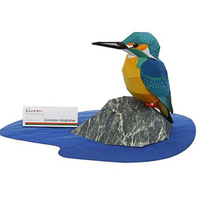 levne 3D puzzle-3D puzzle Papírové modely Modele Ptáček Zvířata Udělej si sám lepenkový papír Klasické Dětské Unisex Chlapecké Hračky Dárek