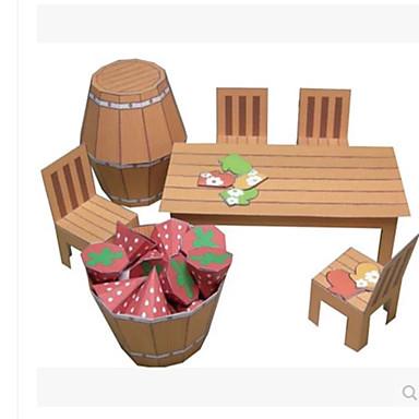 levne 3D puzzle-3D puzzle Výroba z papíru Nábytek Židle skládací Udělej si sám lepenkový papír Dětské Unisex Hračky Dárek