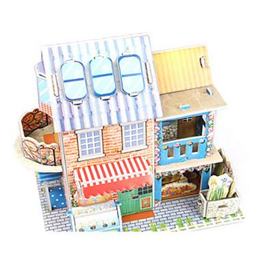 levne 3D puzzle-3D puzzle Puzzle Papírové modely Modele Dům Architektura Kytky 3D Udělej si sám Papír vysoké kvality Klasické Chlapecké Unisex Dárek