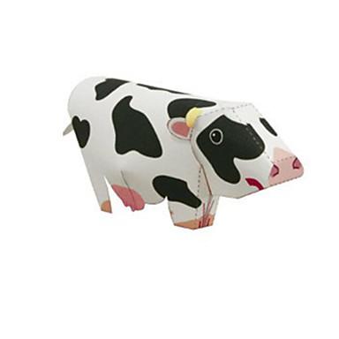 levne 3D puzzle-3D puzzle Papírové modely Modele Cow Zvířata Udělej si sám Simulace Klasické Dětské Unisex Hračky Dárek