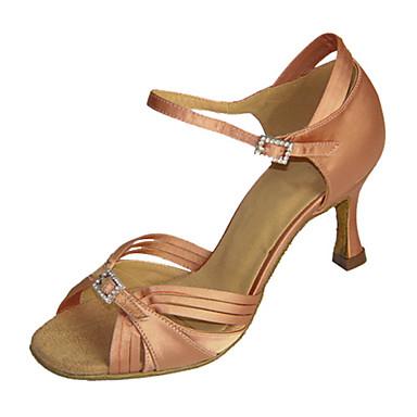 Semicuero Xzqwvoqf1 Latino De Zapatilla Sandalia Baile Zapatos Mujer QxBrdoCeW