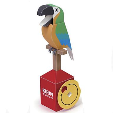 voordelige 3D-puzzels-3D-puzzels Bouwplaat Modelbouwsets Parrot DHZ Hard Kaart Paper Klassiek Cartoon Kinderen Unisex Speeltjes Geschenk