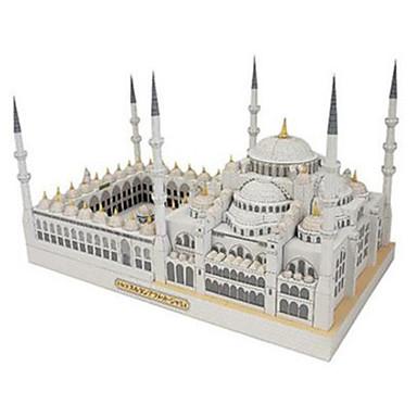 levne 3D puzzle-3D puzzle Papírové modely Modele Slavné stavby Kostel Katedrála Udělej si sám lepenkový papír Klasické Dětské Unisex Chlapecké Hračky Dárek