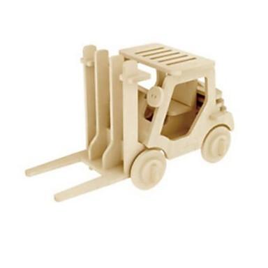 levne 3D puzzle-Robotime 3D puzzle Puzzle Dřevěný model Náklaďák Lev Udělej si sám Dřevěný Přírodní dřevo Dětské Unisex Hračky Dárek