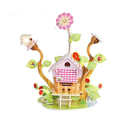 levne 3D puzzle-3D puzzle Puzzle Modele Slavné stavby Dům Udělej si sám lepenkový papír Klasické Anime Animák Dětské Unisex Chlapecké Dívčí Hračky Dárek