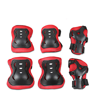 cheap Scooters, Skateboarding & Rollers-Protective Gear / Knee Pads + Elbow Pads + Wrist Pads for Ice Skating / Skateboarding / Inline Skates Scratch Proof / Anti-Friction / Shockproof 6 pack Outdoor clothing PVC(PolyVinyl Chloride)