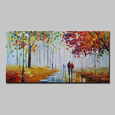 povoljno Ulja na platnu-Hang oslikana uljanim bojama Ručno oslikana - Pejzaž Sažetak Moderna Bez unutrašnje Frame / Valjani platno
