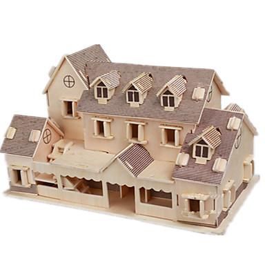 levne 3D puzzle-3D puzzle Puzzle Modele Slavné stavby Dům Udělej si sám Dřevěný Klasické Dětské Dospělé Unisex Chlapecké Dívčí Hračky Dárek / Dřevěný model