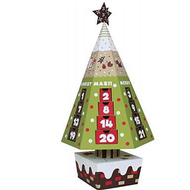levne 3D puzzle-3D puzzle Papírové modely Vánoční stromky Vánoce Udělej si sám Nábytek Klasické Unisex Hračky Dárek