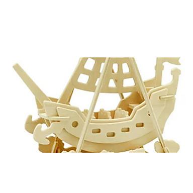 voordelige 3D-puzzels-3D-puzzels Legpuzzel Houten modellen Dinosaurus Vliegtuig Schip 3D DHZ Puinen Hout Klassiek Piraat Unisex Geschenk
