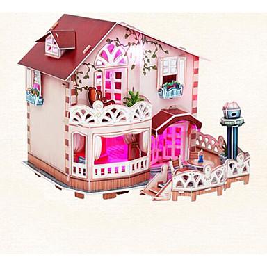 voordelige 3D-puzzels-3D-puzzels Modelbouwsets Huis Valaistus Papier Kinderen Speeltjes Geschenk