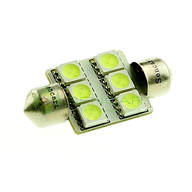 billige Automotiv-36mm Bil Elpærer SMD 5050 100lm 6 LED interiør Lights For Universell