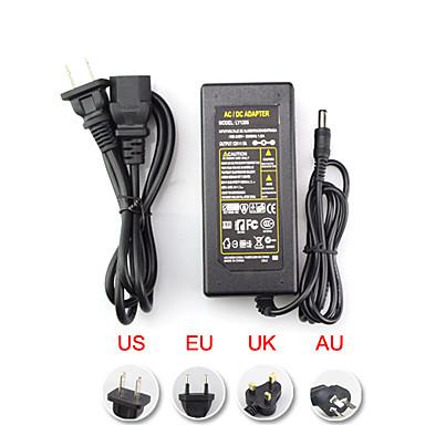 cheap Lighting Accessories-AC 100-240V To DC 12V 6A Transformer Switch EU/AU/UK/US Plug 72W 5.5*2.5mm Power Supply Adapter for LED Strip Flexible Lights