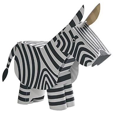levne 3D puzzle-3D puzzle Papírové modely Modele Kůň Zebra Zvířata Udělej si sám lepenkový papír Klasické Dětské Unisex Chlapecké Hračky Dárek