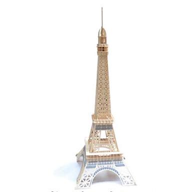 levne 3D puzzle-3D puzzle Puzzle Modele Věž Eiffelova věž Udělej si sám Dřevěný Přírodní dřevo Žehlička Klasické Dětské Dospělé Unisex Hračky Dárek