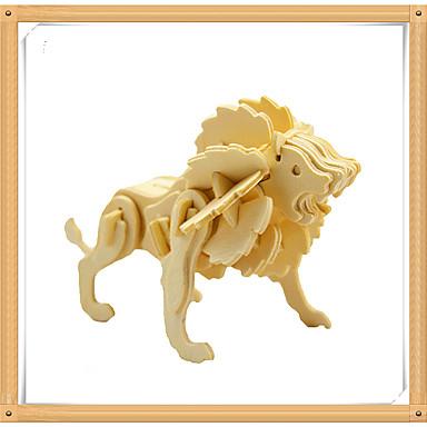 voordelige 3D-puzzels-3D-puzzels Legpuzzel Modelbouwsets Leeuw Dieren DHZ Puinen Kinderen Unisex Speeltjes Geschenk