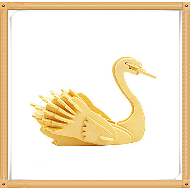 levne 3D puzzle-3D puzzle Puzzle Modele Labuť Zvířata Udělej si sám Dřevěný Dětské Hračky Dárek