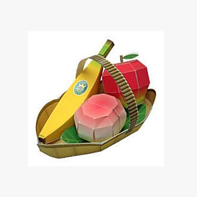 levne 3D puzzle-3D puzzle Výroba z papíru Banán Ovoce Jumbo Peach Udělej si sám lepenkový papír Dětské Unisex Hračky Dárek