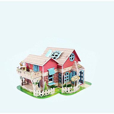 voordelige 3D-puzzels-3D-puzzels Modelbouwsets Huis Valaistus Papier Kinderen Meisjes Speeltjes Geschenk