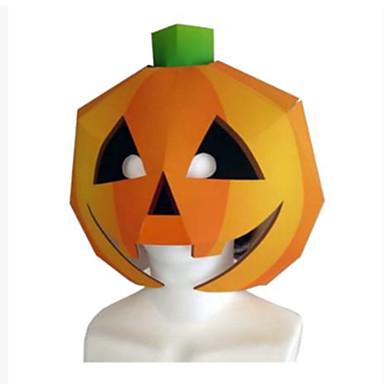 levne 3D puzzle-Halloweenské masky Výroba z papíru lepenkový papír Klasické Udělej si sám Dýně Jídlo a nápoje Dětské Unisex
