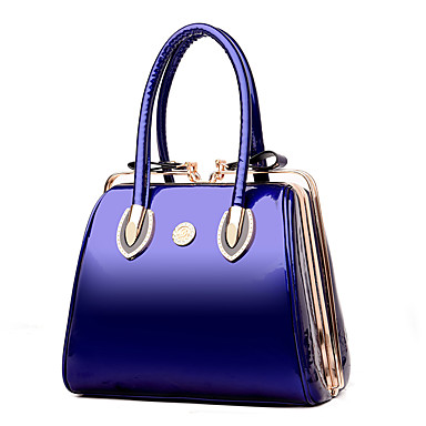 Women S Bags Patent Leather Tote For Wedding Event Party Formal Blue Black